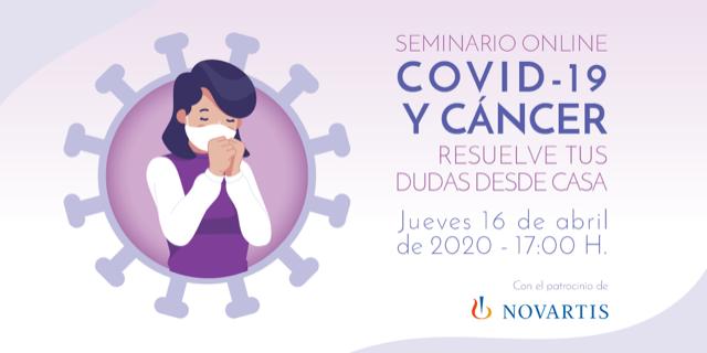 GEPAC organiza un seminario online: COVID-19 y cáncer: resuelve tus dudas desde casa para pacientes con cáncer, el jueves 16 de abril a las 17:00